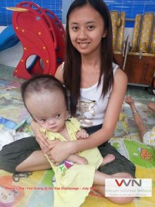 Go Vap Orphanage looks after hundreds of children like this - shunts need to be donated due to high costs.
