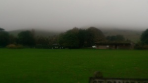 The rolling mists over the rolling hills.