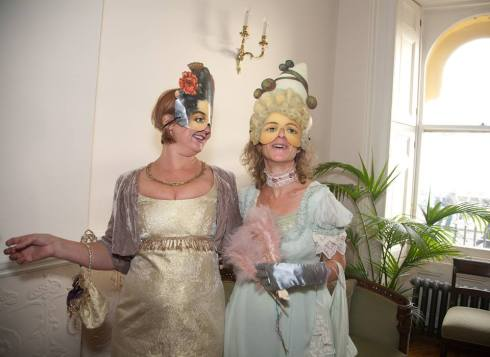 Two Regency ladies; (my boss on the left and my nephew's Mum on the right!)