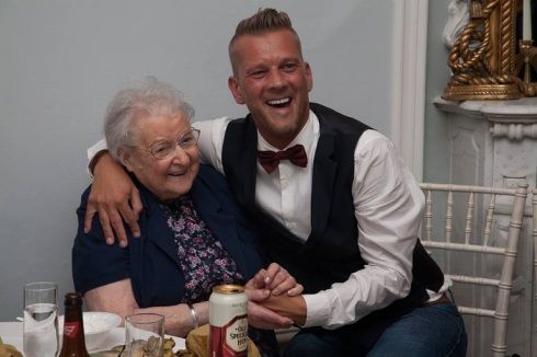 My wonderful, amazing Nan....and David!